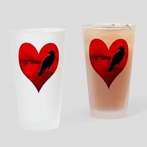 HEART_Crow Drinking Glass