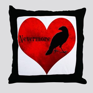 HEART_Crow Throw Pillow