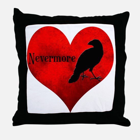 HEART_Crow Throw Pillow