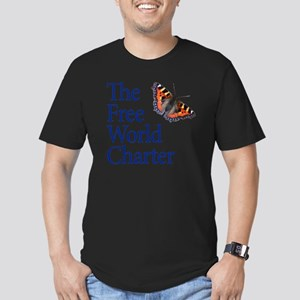 FWC-logo2-SQUARE Men's Fitted T-Shirt (dark)