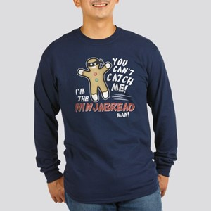 Ninjabread Man Long Sleeve Dark T-Shirt