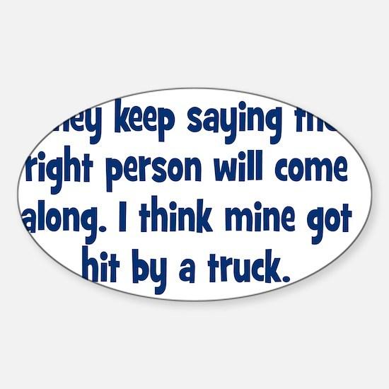 right_person_btle3 Sticker (Oval)