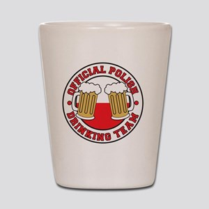 Official Polish Drinking Team Shirt Shot Glass