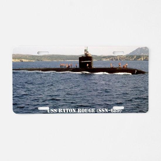 brouge notecard Aluminum License Plate
