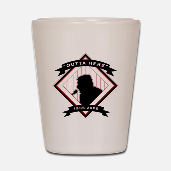 Harry Kalas - back Shot Glass