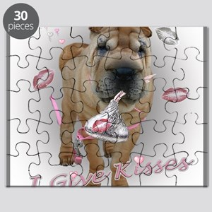 I Give Kisses Sharpei Puzzle