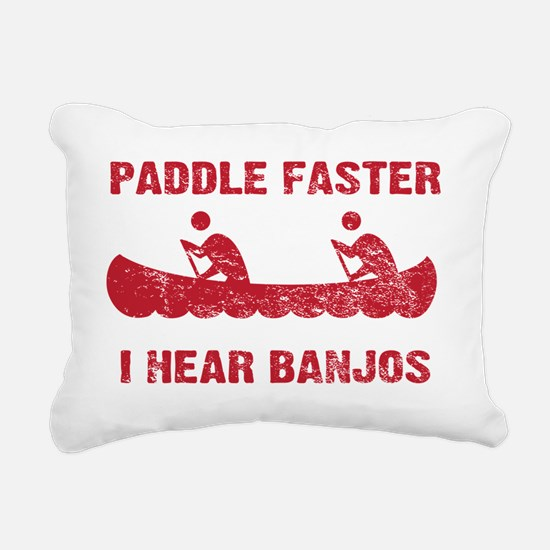 PaddleFaster_red Rectangular Canvas Pillow