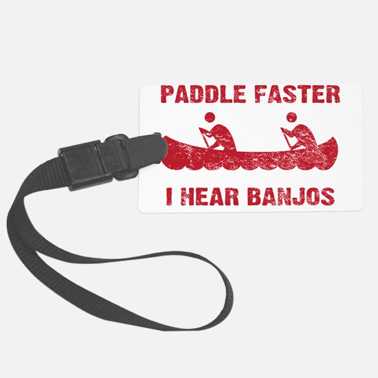 PaddleFaster_red Large Luggage Tag