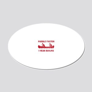 PaddleFaster_red 20x12 Oval Wall Decal