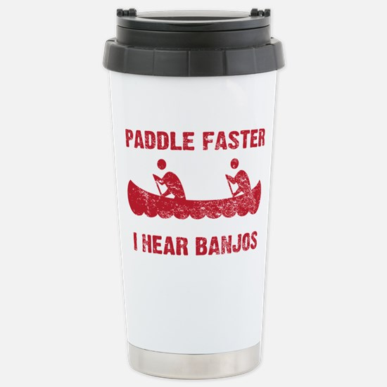 PaddleFaster_red Stainless Steel Travel Mug