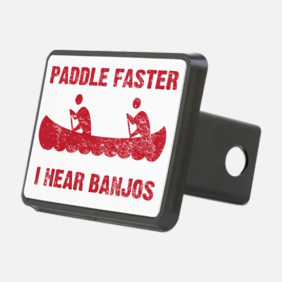 PaddleFaster_red Rectangular Hitch Cover