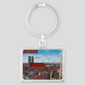 Munich Cityscape Landscape Keychain