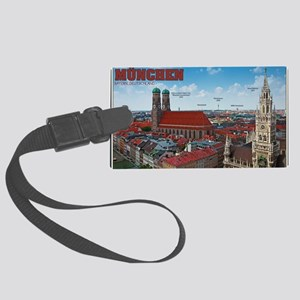 Munich Cityscape Large Luggage Tag