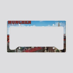 Munich Cityscape License Plate Holder
