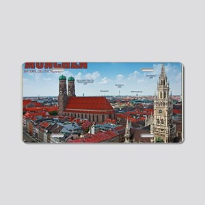 Munich Cityscape Aluminum License Plate