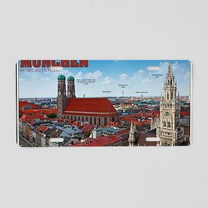 Munich Cityscape Aluminum License Plate