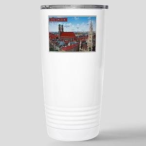 Munich Cityscape Stainless Steel Travel Mug
