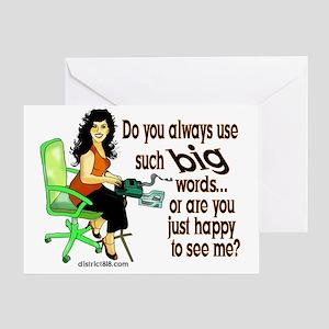 rep_mes_bag Greeting Card