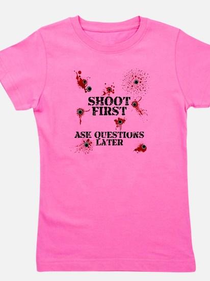 Shoot First Girl's Tee