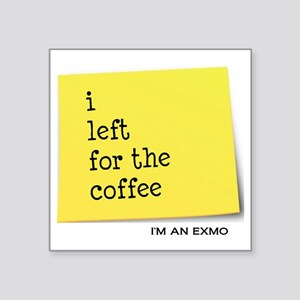 "exmocoffee Square Sticker 3"" x 3"""
