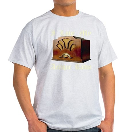 ilovemy_antique_radio_transparent Light T-Shirt
