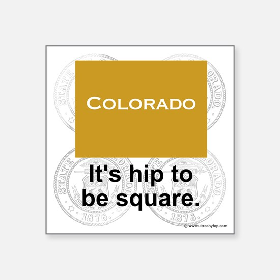 "Colorado Square Sticker 3"" x 3"""