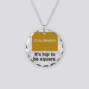 Colorado Necklace Circle Charm