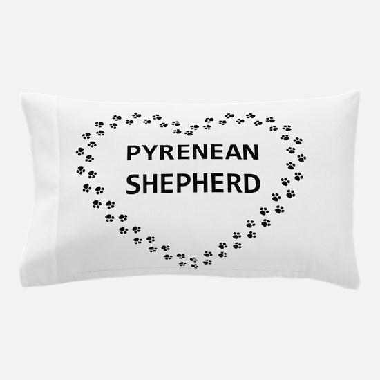 pyrenean shepherd paw heart Pillow Case