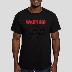 attitude_warning1 Men's Fitted T-Shirt (dark)