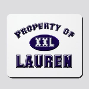 Property of lauren Mousepad