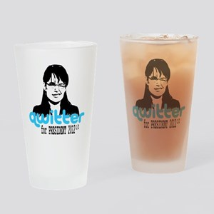 QwitterTee Drinking Glass