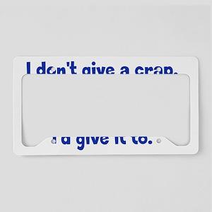 dontgive_pg_btle1 License Plate Holder