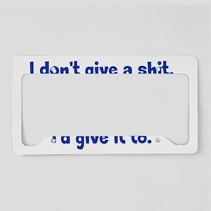 dontgive_r_btle1 License Plate Holder
