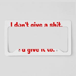 dontgive_r_btle2 License Plate Holder