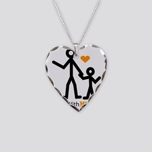 Moms With MS Transparent Necklace Heart Charm