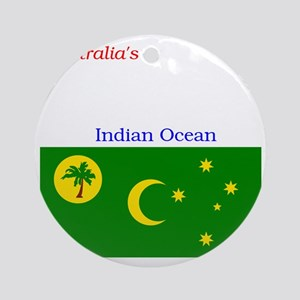 2000px-Flag_of_the_Cocos_%28Keeling Round Ornament