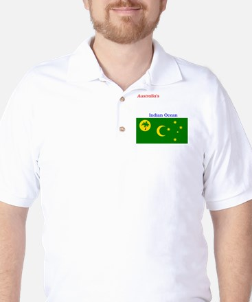 2000px-Flag_of_the_Cocos_%28Keeling%29_ Golf Shirt
