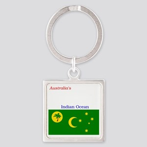 2000px-Flag_of_the_Cocos_%28Keelin Square Keychain