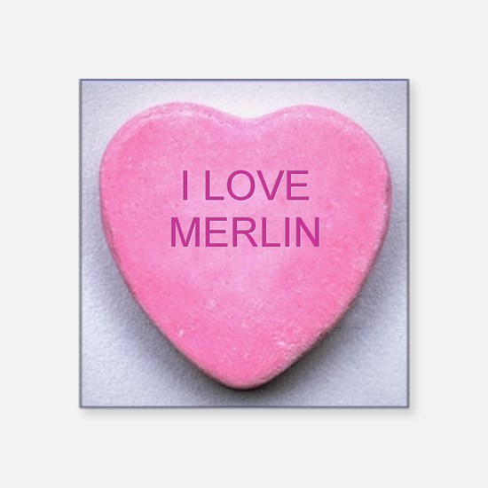 "HEART MERLIN Square Sticker 3"" x 3"""