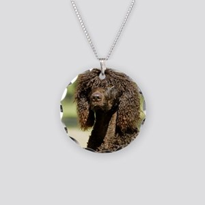 Irish Water Spaniel 9R032D-3 Necklace Circle Charm