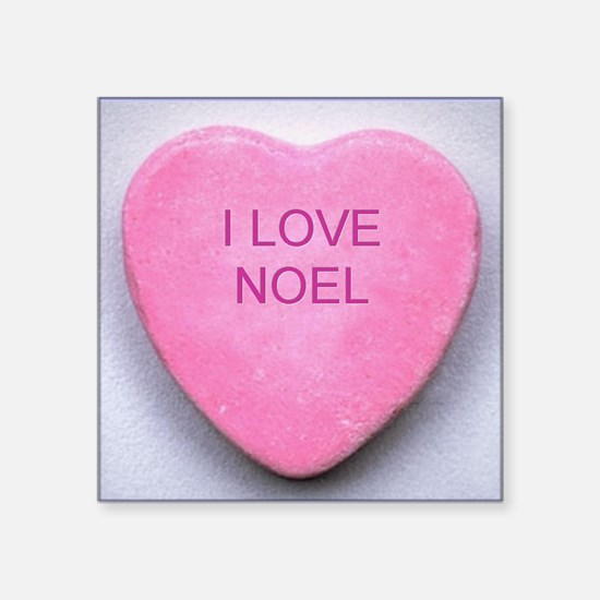 "HEART NOEL Square Sticker 3"" x 3"""