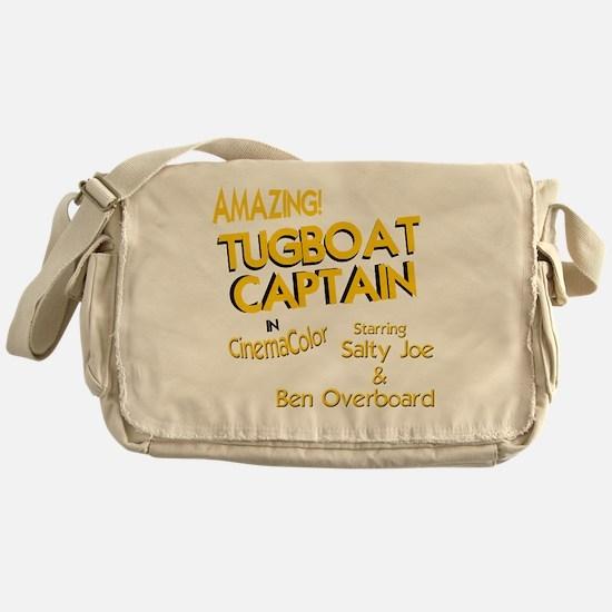 funny tugboat captain Messenger Bag