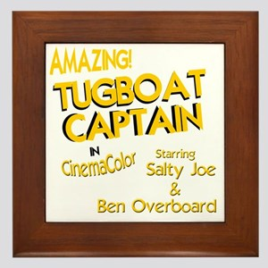 funny tugboat captain Framed Tile