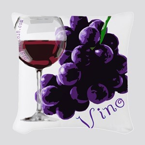 vino_10by10 Woven Throw Pillow
