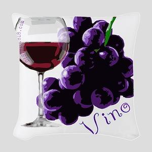 vino_10by10 Woven Throw Pillow