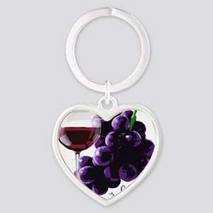 vino_10by10 Heart Keychain