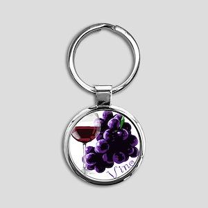 vino_10by10 Round Keychain