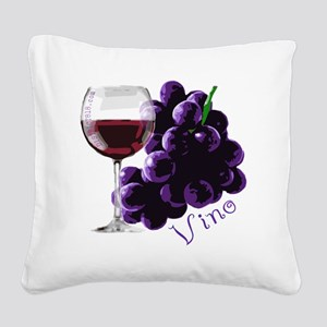 vino_10by10 Square Canvas Pillow