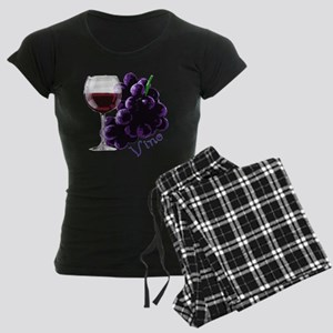 vino_10by10 Women's Dark Pajamas