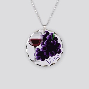vino_10by10 Necklace Circle Charm